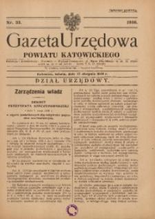Gazeta Urzędowa Powiatu Katowickiego, 1936, nr33