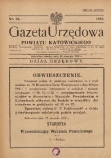 Gazeta Urzędowa Powiatu Katowickiego, 1936, nr35