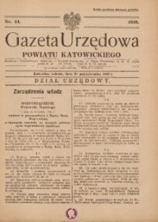 Gazeta Urzędowa Powiatu Katowickiego, 1936, nr44