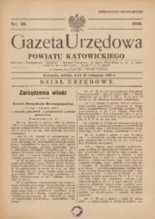Gazeta Urzędowa Powiatu Katowickiego, 1936, nr48