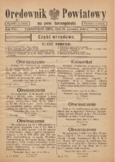 Orędownik Powiatowy na Powiat Tarnogórski, 1934, R. 8, nr14/15