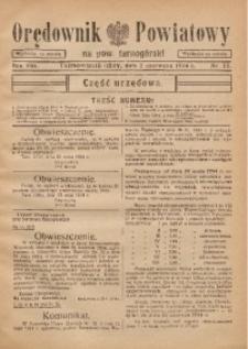 Orędownik Powiatowy na Powiat Tarnogórski, 1934, R. 8, nr22