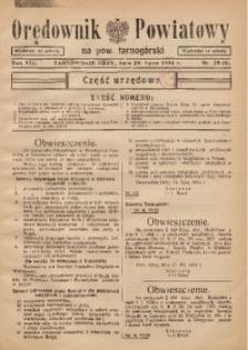 Orędownik Powiatowy na Powiat Tarnogórski, 1934, R. 8, nr29/30