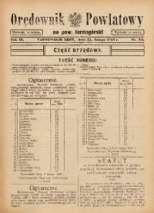 Orędownik Powiatowy na Powiat Tarnogórski, 1935, R. 9, nr7/8