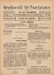 Orędownik Powiatowy na Powiat Tarnogórski, 1935, R. 9, nr14/15