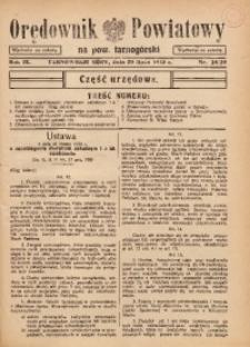 Orędownik Powiatowy na Powiat Tarnogórski, 1935, R. 9, nr28/29