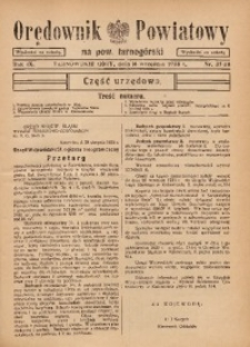 Orędownik Powiatowy na Powiat Tarnogórski, 1935, R. 9, nr37/38