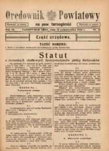 Orędownik Powiatowy na Powiat Tarnogórski, 1935, R. 9, nr41