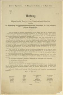 Mowa posłów Daszyńskiego, Kunickiego i towarzyszy - Wiedeń, 14.04.1910 r.