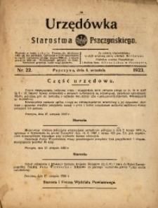 Urzędówka Starostwa Pszczyńskiego, 1923, nr22