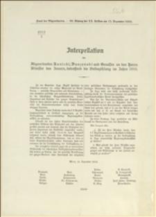 Interpelacja posłów Kunickiego, Daszyńskiego i towarzyszy - Wiedeń, 15.12.1910 r.