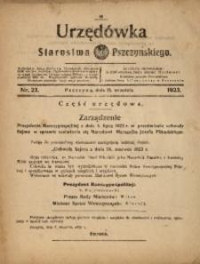Urzędówka Starostwa Pszczyńskiego, 1923, nr23