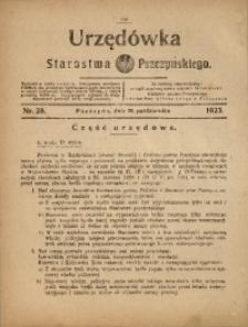 Urzędówka Starostwa Pszczyńskiego, 1923, nr28