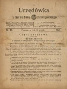 Urzędówka Starostwa Pszczyńskiego, 1923, nr35