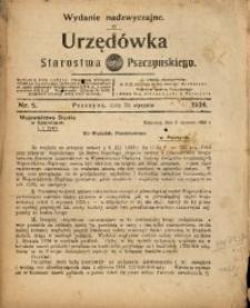 Urzędówka Starostwa Pszczyńskiego, 1924, nr5