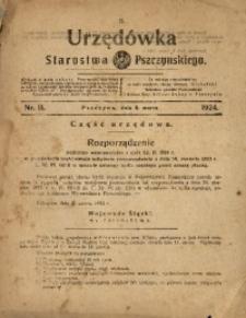 Urzędówka Starostwa Pszczyńskiego, 1924, nr11