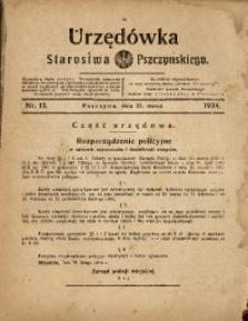 Urzędówka Starostwa Pszczyńskiego, 1924, nr13