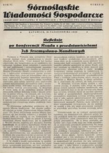 Górnośląskie Wiadomości Gospodarcze, 1929, R. 6, nr 19