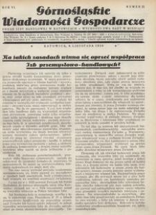 Górnośląskie Wiadomości Gospodarcze, 1929, R. 6, nr 21