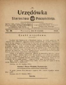 Urzędówka Starostwa Pszczyńskiego, 1924, nr38