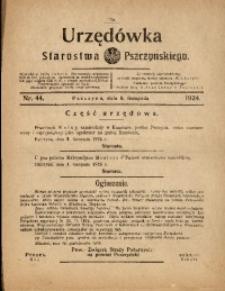 Urzędówka Starostwa Pszczyńskiego, 1924, nr44