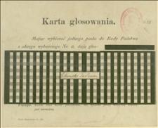 Karta głosowania na nazwisko Tadeusza Sikorskiego w Krakowie, w okręgu wyborczym nr 8