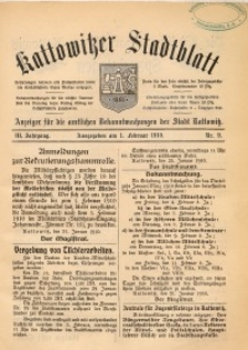 Kattowitzer Stadtblatt, 1910, Jg. 3, nr9