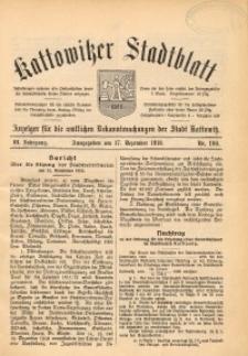 Kattowitzer Stadtblatt, 1910, Jg. 3 , nr100
