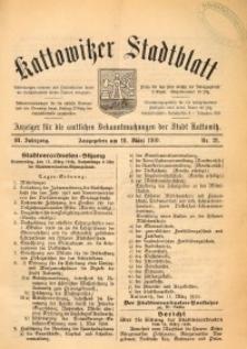 Kattowitzer Stadtblatt, 1910, Jg. 3 , nr21