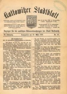 Kattowitzer Stadtblatt, 1910, Jg. 3, nr25