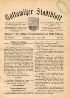 Kattowitzer Stadtblatt, 1910, Jg. 3, nr28