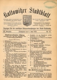 Kattowitzer Stadtblatt, 1910, Jg. 3, nr45