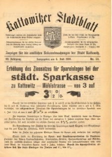 Kattowitzer Stadtblatt, 1910, Jg. 3, nr53