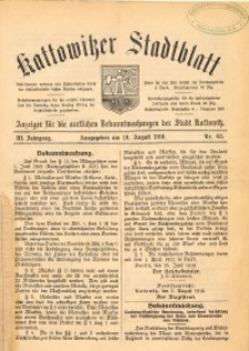 Kattowitzer Stadtblatt, 1910, Jg. 3, nr63