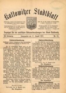 Kattowitzer Stadtblatt, 1910, Jg. 3, nr65