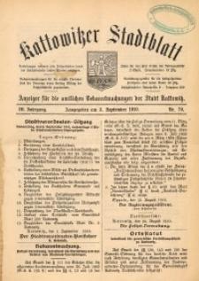 Kattowitzer Stadtblatt, 1910, Jg. 3, nr70