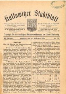 Kattowitzer Stadtblatt, 1910, Jg. 3, nr72