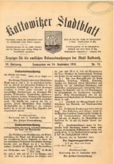 Kattowitzer Stadtblatt, 1910, Jg. 3, nr76