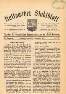 Kattowitzer Stadtblatt, 1910, Jg. 3, nr77