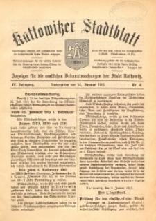 Kattowitzer Stadtblatt, 1911, Jg. 4, nr4