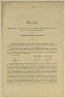 Antrag der Abgeordneten Cingr, Seliger, Reger, Muchitsch, Glöckel, Dr. Schacherl und Genossen, die Unfallversicherung des Bergarbeiter - Wien 21.7.1911