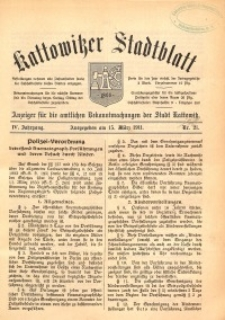 Kattowitzer Stadtblatt, 1911, Jg. 4, nr21