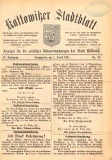 Kattowitzer Stadtblatt, 1911, Jg. 4, nr26