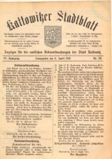 Kattowitzer Stadtblatt, 1911, Jg. 4, nr28