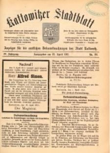 Kattowitzer Stadtblatt, 1911, Jg. 4, nr29