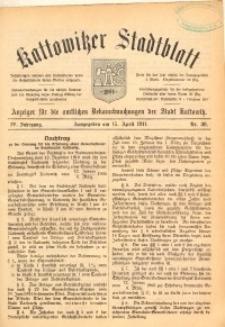 Kattowitzer Stadtblatt, 1911, Jg. 4, nr30