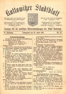 Kattowitzer Stadtblatt, 1911, Jg. 4, nr31