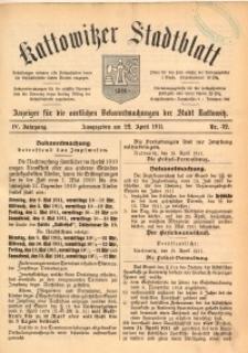 Kattowitzer Stadtblatt, 1911, Jg. 4, nr32