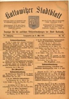 Kattowitzer Stadtblatt, 1911, Jg. 4, nr36