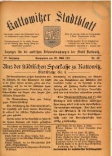 Kattowitzer Stadtblatt, 1911, Jg. 4, nr40